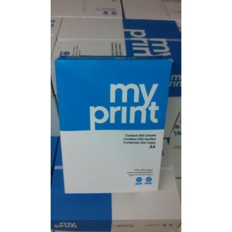 CAIXA 5 PAQUETS 500 FULLS PAPER myprint A4 75 g/m2 BLANC MULTIFUNCIÓ